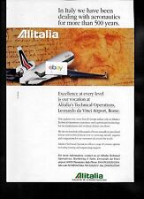 ALITALIA IN ITALY WE HAVE BEEN DEALING WITH AERONAUTICS FOR 500 YRS MD-11 AD