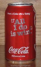 "NM 2016 USA LE #SHARE A COKE AND A SONG ""ALL I DO IS WIN"" 12oz FULL CAN"