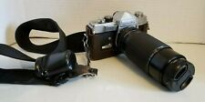 Minolta SR-1 35mm Film SLR Camera Chrome w/Sigma HS Zoom 80-200mm Hoya Skylight
