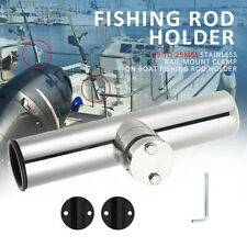 For Rails 19 to 25mm Stainless Rail Mount Clamp on Boat Fishing Rod Holder New