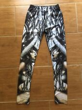Warrior Print Novelty Leggings Shiny Stretch Pants Costume Size L/XL *As New*