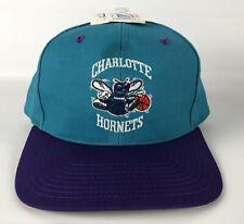 Charlotte Hornets Baseball Hat Twins Teal Purple Vintgage Deadstock NOS
