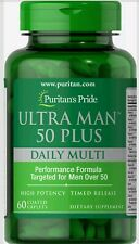 Puritans Pride Ultra Man 50 Plus Performance Immune Support ZINC 227% 60 Caps