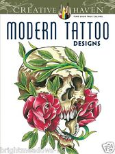 Modern Tattoo Designs Adult Colouring Book Creative Art Therapy Relaxing Gift