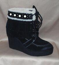 NEW SAM EDELMAN Womens Black Leather KEMPER Boots Size 5.5