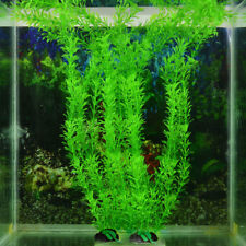 2x Aquarium Fish Tank Accessory Decor Green Grass Artificial Fake Plastic Plant