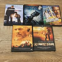 LOT used DVD's Pursuit Happiness Dark Knight Drumline Tears of Sun Coach Carter