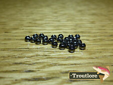 "25 PIECES TUNGSTEN BEAD HEADS BLACK CHROME 7/64"" 2.8mm - NEW FLY TYING MATERIALS"
