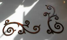 "METAL WALL ART DECOR ACCENTS DECORATIVE Scroll Duo 13.5"" x 7"""