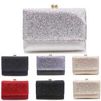 LeahWard Women's Glitter Folded Purse Kisslock Flap Purses Wallet Coin Bag