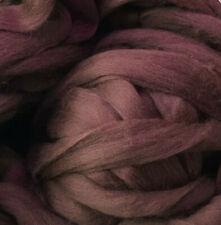 Brown Wool Roving, Shep's Wool Dark Chocolate Merino Roving, Brown wool fiber