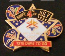 SALT LAKE CITY 2002 Winter OLYMPICS PIN July 4th 1998 COUNTDOWN 1328 Days to Go!