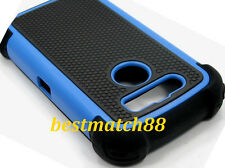 for blackberry torch 9850 / 9860 soft hard rubber 3 layer case black berry blue