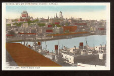 1946 ships North side View Quebec City Canada postcard