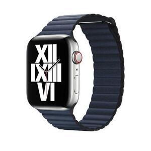 Genuine Apple Watch 42mm/ 44mm Leather Loop Watch Band Strap Medium - Diver Blue