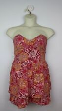 PEACE ANGEL Strapless Cotton Dress with Whirligig Pattern Size M (10-12)