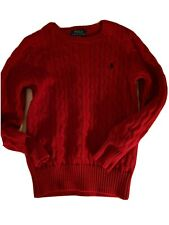 Ralph Lauren Rn41381 Boys Size M (10-12) Sweater, Red, 100% Cotton, Great Cond.