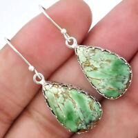 Natural Australian Variscite 925 Sterling Silver Earrings Jewelry 2095