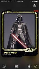 Topps Star Wars Digital Card Trader Gold Darth Vader Base Variant