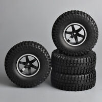 """4X 1/10  1.9"""" Tires Wheels Rubber 12mm Hex For RC 1/10 Car Rock Crawler"""