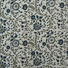 Baumwolle Stoff nähen Hand Block Blumendruck Handwerk 45 Zoll von 1 Yard