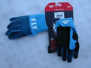 FLY racing F-16 motocross gloves YOUTH SMALL sz 4 nvy/blu/wht  373-91104