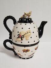 2000 Sandy Lynam Clough - Sandy's Closet, Tea Time #18151, Tea Pot with Cup