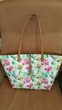 Envy floral 3 way shopper bag with handbag in white and multi