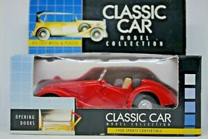 1938 CLASSIC BMW Type CONVERTIBLE Car with Opening Doors RED Color MINT in BOX