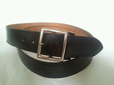 "Vintage""GARRISON"" Mens Black Genuine Top Grain American Leather Belt. Size 52"