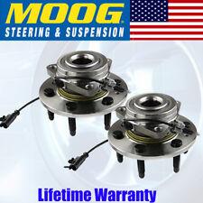 Pair (2) Moog Front Wheel Hub & Bearing Assembly Chevy Cadillac Suv Pickups Gmc(Fits: Cadillac)
