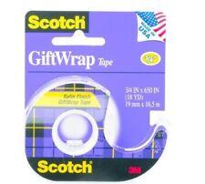 3M Scotch 15-H Clear Office Tape - 3/4 in Width - 79816 [PRICE is per ROLL]