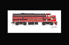 """Chicago Great Western FP7 11""""x17"""" Matted Print by Andy Fletcher signed"""