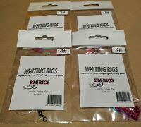 BM RIGS 4 x Whiting Rig Flashers Two #2 Pink Lumo & Two #4 Packs Fishing Rigs