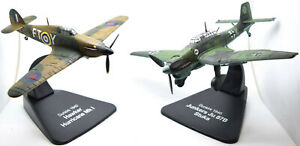 Dunkirk 1940 Set: Hawker Hurricane MKI & Ju 87B Stuka 1:72 Scale Diecast (LF002)