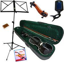 Pack Violon 4/4 Noir 7 Accessoires Etui, Accordeur, Pupitre..