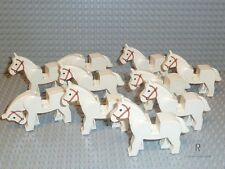 LEGO® System 10x Weiße Pferde 4493c01 Town Classic Ritter Indianer R539