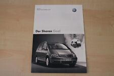 68986) VW Sharan Goal - Preise & Extras - Prospekt 12/2003