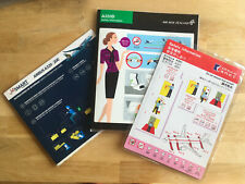 Jetsmart, Air Macau and Air New Zealand A320/321 Safety Cards