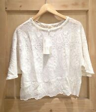 Zara Crew Neck Party Floral Tops & Shirts for Women