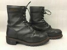 "Mens Caterpillar Logger 9"" Steel Toe Work Boot Black Size US 10.5 Z145 P88033"
