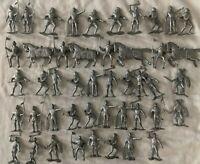 Vintage Marx Recast Miniature Plastic Medieval Knight Figures