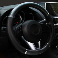 Car  Black Carbon fiber  Leather Steering Wheel Cover 38cm/15'' fashion 2018 new