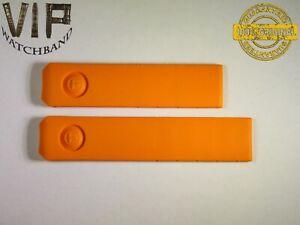 NEW OEM Authentic TISSOT strap 20 mm genuine rubber Orange color