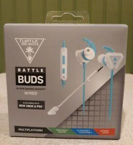 Turtle Beach Battle Buds In-Ear Gaming Headset - Blue/White (TBS-4003-01)