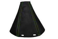 GREEN STTICH  FITS SAAB SS 93 9-3 2003+ REAL LEATHER GEAR GAITER