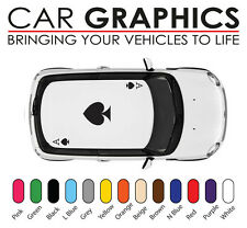 Mini cooper car graphics cards ace decals stickers vinyl design mn33