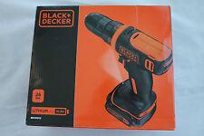 BLACK+DECKER BDCDD12 Akku-Bohrschrauber, 10,8 V, 1,5 Ah - Orange/Schwarz