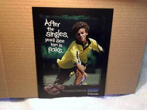 1998 RIDER FOOTWEAR Gustavo Kuerten tennis AD PRINT ONLY,french open winner