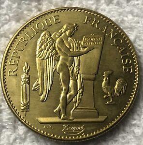 100 Francs 1889 A Lucky Angel Coin Brass Token
